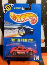 """1991 HOT WHEELS ** PONTIAC FIERO 2M4 ** #114 1:64 """" BAD CARD """""""