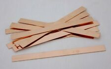Copper Sheet Bracelet Blanks 18ga 6 in. x 0.5 in. Package Of 12
