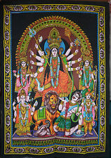 Durga Hindu Goddess Sequinned Wall Hanging * Fair Trade * 80x110cm
