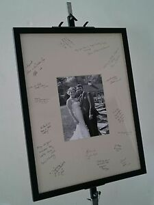 Wedding Guest Signature Picture Frame. Fully Glazed and Text Box Option