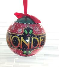Mary Engelbreit Kurt Adler Round Ball Paper Christmas Ornament Wonder Girl Boy