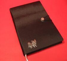 More details for papillon dog a5 black note book journal dog vet christmas useful gift