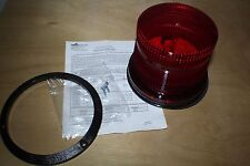 COOPER WHEELOCK DC-MAX-R INDUSTRIAL STROBE RED DOUBLE FLASH 10.5 TO 31VDC