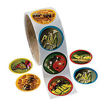 BUG and INSECT PARTY Realistic Bugs Bees Stickers Pack of 50 Free Postage