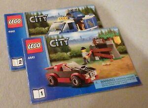 LEGO CITY Instruction Manual Only #4441 Police Dog Van--Bks 1 & 2