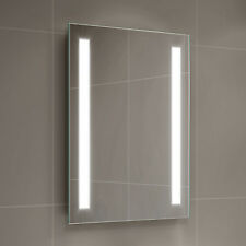 Battery Operated LED Mirror Illuminated Rectangular Bathroom Light Up 500x700mm