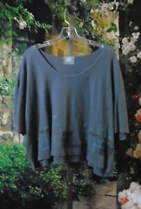 Vintage Blue Fish Exploration Tunic/Tee Patched 2000