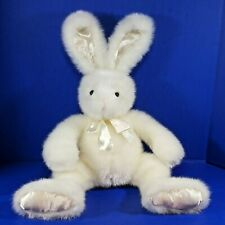First & Main Easter Bunny Plush Cottontail Rabbit Ivory White Large 22 Inch