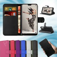 Case for Huawei P20 Pro P20 Lite 2019 Leather Magnetic Flip Wallet Stand Cover