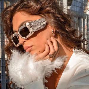 Fashion OVersized Square Sunglasses Women SNAKE Frame Outdoor Shade Glasses 2021