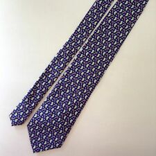 Sero Christmas Mens Neck Tie Silk Blue Green Candy Canes Stockings Ornaments