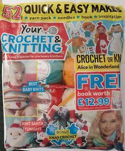Your Crochet & Knitting magazine #20 Alice in Wonderland, yarn, hook, needles