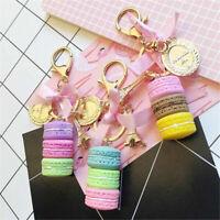 1/2PCS Colorful Cute Alloy Macaroon Keychain Keyring Bag Pendant Car Charm Decor