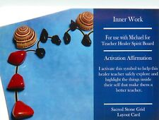"""INNER WORK Grid Card 4x6"""" Heavy Cardstock For Use with Healing Crystals"""