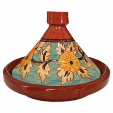 Tajine / Tagine Marokkanischer Schmortopf Ton Topf Induktion Fleur 30cm glasiert