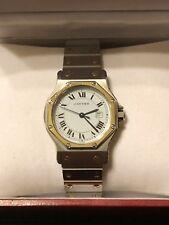 Cartier Santos Automatic 18K Gold&steel Date Octagon Bezel Wrist Unicex Watch