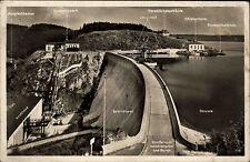 Saaletalsperre Thüringen 1937 Talsperre Stausee Sperrmauer gelaufen nach Grüna