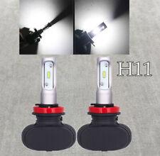 LOW BEAMS 25W X2 4000LM LED H11 Bulbs HIGH POWER CSP 6000K White W1 J
