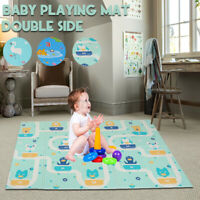 Baby Reversible Play Mat Double-Sided Crawling Mat Foldable Waterproof  B