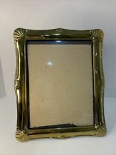 Photo Frame Gold Metal VinesFreestanding Holds 8x10� Picture Preowned easel back