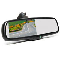 "4.3"" TFT LCD Screen Mirror Monitor For Car Rear View Reversing Backup Camera Cam"
