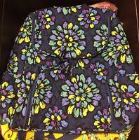 NWT Vera Bradley Double Zip Backpack Bookpack Retired Indigo Pop