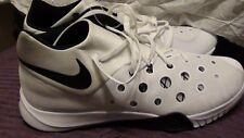 """NEW SZ.18"""" NIKE ZOOM """"HYPYERQUICKNESS 3""""- BRIGHT WHITE BASKETBALL SNEAKERS;$150"""