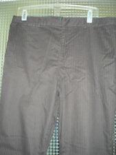 Pantaloni da donna, taglia comoda marrone a gamba dritta