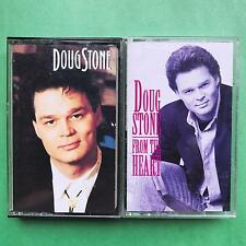 DOUG STONE s/t & From The Heart Cassette Tapes 2 Lot