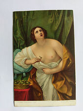 Death of Cleopatra by Reni Vintage colour postcard c1905 printed in Saxony
