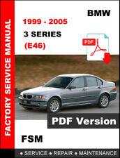 BMW 3 SERIES 1999 2000 2001 2002 2003 2004 2005 E46 FACTORY MAINTENANCE MANUAL