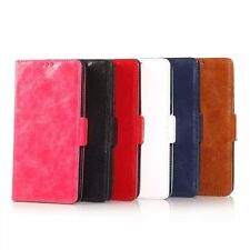 NEW SAMSUNG GALAXY NOTE 4 OIL SKIN LUXURY LEATHER CASE ONLY £9.99
