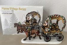 NEW Dept 56 Alpine Village Series WOLFSTEIN BEER WAGON Wolfsteiner 808756
