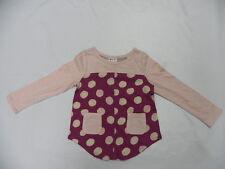 Roxy Kids 5T Top Shirt Sea Spay L/S Dots Top