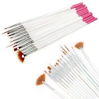 12 Stück Nagel-Kunst-Farben-Draw-Feder-Bürsten für UV-Gel DIY Dekor-Werkzeug