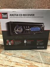 Dual Electronics Xd1228 Am/Fm/Cd/Usb/Aux Receiver w/Removable Face - Used