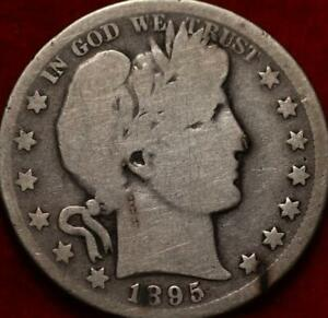 1895-O New Orleans Mint Silver Barber Half Dollar