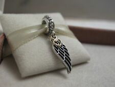 Genuine PANDORA Sterling Silver Gold Love & Guidance Angel Wing Charm 791389