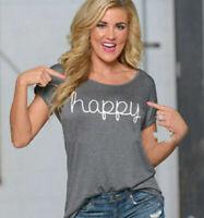 Women Loose T-shirt Short Sleeve Cotton Soft Blouse Shirt Tops Fashion Summer