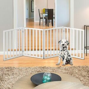 PETMAKER Wooden Freestanding Pet Gate Collection - Folding Indoor Barrier Fence