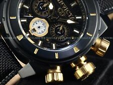Men's Invicta 50mm 'Golden Fish' Corduba GMT Japan Chronograph Black IPSS Watch