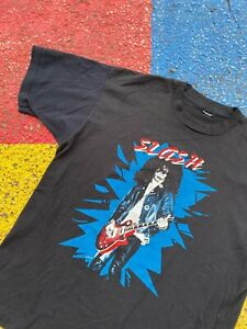 Vintage 80s 90s Slash Guns and Roses Guitarist Graphic Shirt Rare USA XL