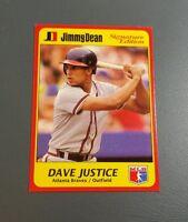 DAVE DAVID JUSTICE 1991 Jimmy Dean Signature Edition Oddball Card # 14