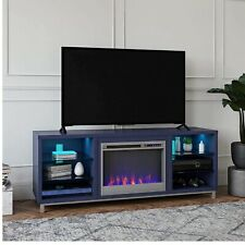 """Ameriwood Home Lumina fireplace tv Stand For Tv Up to 70"""" (Navy)"""