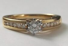 Vintage 18ct Gold Ring Diamond Solitaire