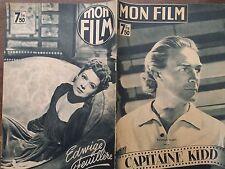 """MON FILM 1947 N 34  """"CAPITAINE KIDd """" avec RANDOLF SCOTT"""