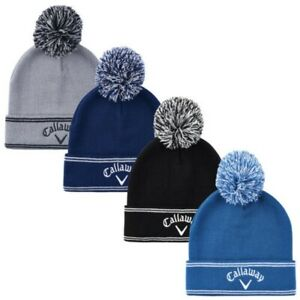 Callaway Mens Classic Beanie Hat Winter Golf Warm Pom Thermal Fleece Lined