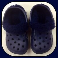 Ladies / Men's Blue Removable Fluffy Slipper Clog Shoes - Adult Size 3 / EU 36