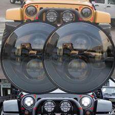 "2x Black 7"" LED Projector HI/LO Beam Headlight for Jeep Wrangler JK LJ TJ"