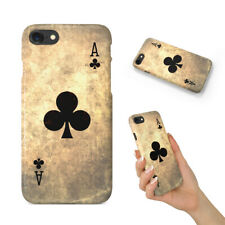 ACE OF CLUBS PLAYING DECK CARDS BACK HARD CASE COVER FOR APPLE IPHONE